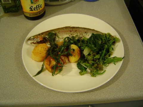baked trout with dill
