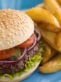 sesame seeds on burger