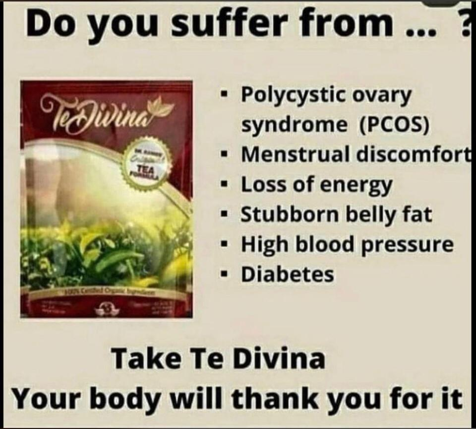 Te Divina Detox tea with 12 essential organic herbs. All natural!
