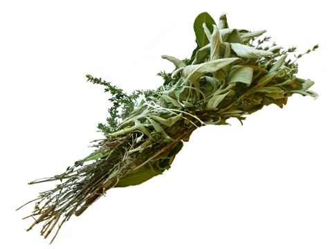 bay leaves, thyme and sage