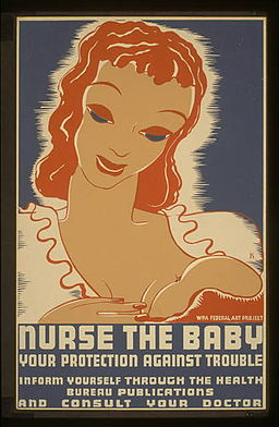 Breast Feeding WPA Poster