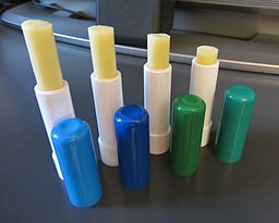 lip balm: By Francesca Cesa Bianchi, Milano (Own work) [CC-BY-SA-3.0-it (http://creativecommons.org/licenses/by-sa/3.0/it/deed.en)], via Wikimedia Commons